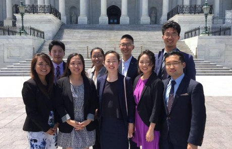 2016 CKA PSI interns in front of the U.S. Capitol