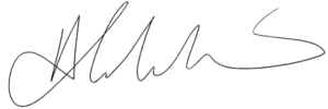 Abe's Signature with Background